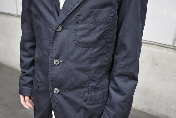 ワークジャケットのタックワイドパンツ