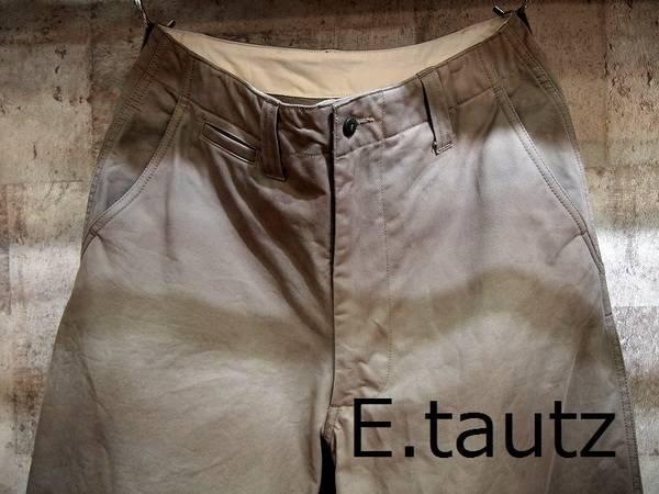 【ワイドパンツ布教】E.tautz/イートウツの極太チノトラウザー