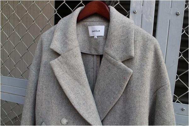 【ENFOLD/エンフォルド】トップネップ立体袖コートの入荷です