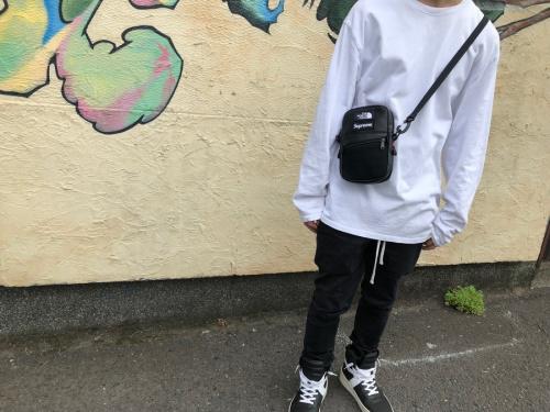シュプリーム × ノースフェイスのLeather Shoulder Bag