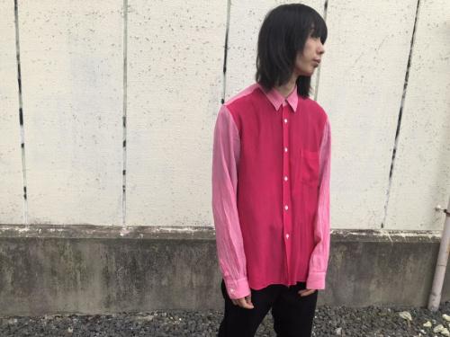 コムデギャルソンオムの製品染めシャツ