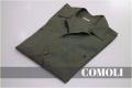 「COMOLIのオープンカラーシャツ 」