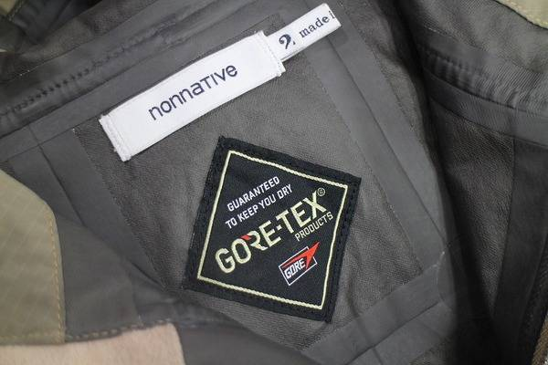 「nonnativeのGORE-TEX 」