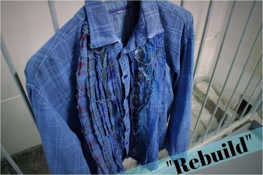 「REBUILD by NEEDLESのリメイクシャツ 」