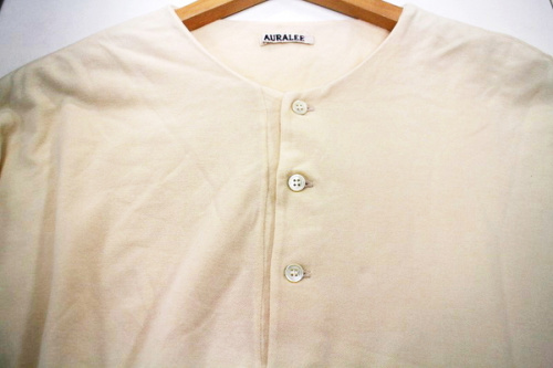 HIGH GAUGE PIQUE DOUBLE HENLEY NECKのメンズ