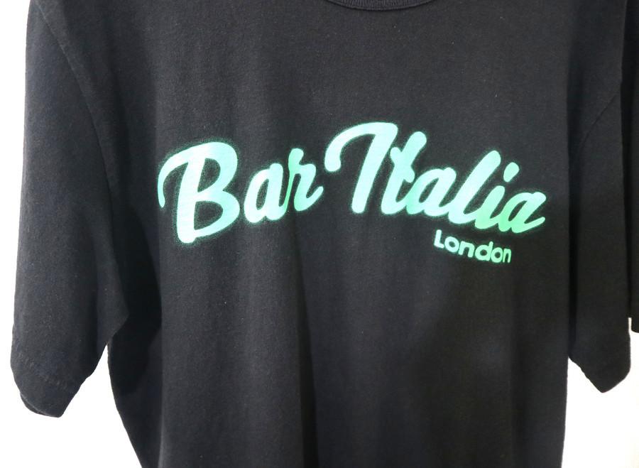 BAR ITALIA プリントTシャツのメンズ