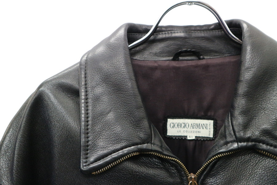 これぞ男を上げるジャケット【GIORGIO ARMANI/ジョルジオ アルマーニ】のレザージャケットをご紹介