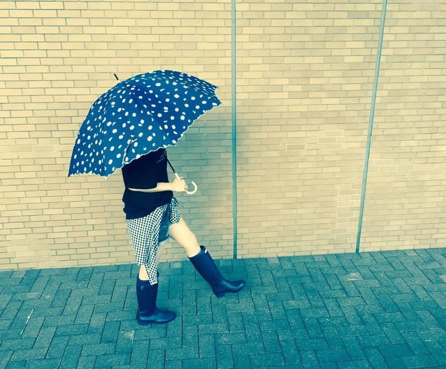 梅雨のレインブーツ