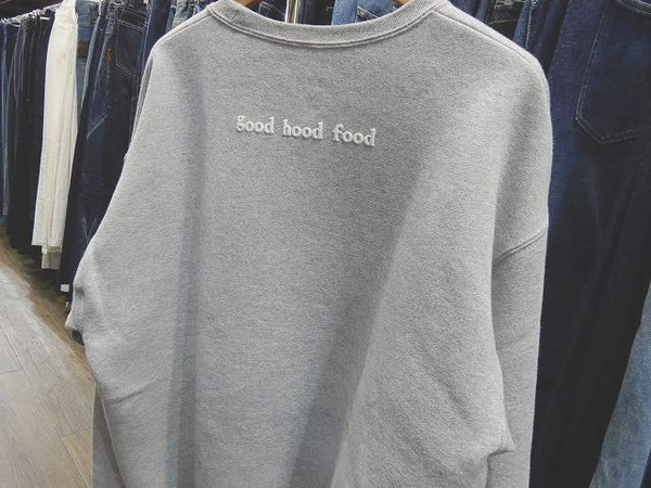 グッドフッドフードのgood hood food limited crew neck sweat