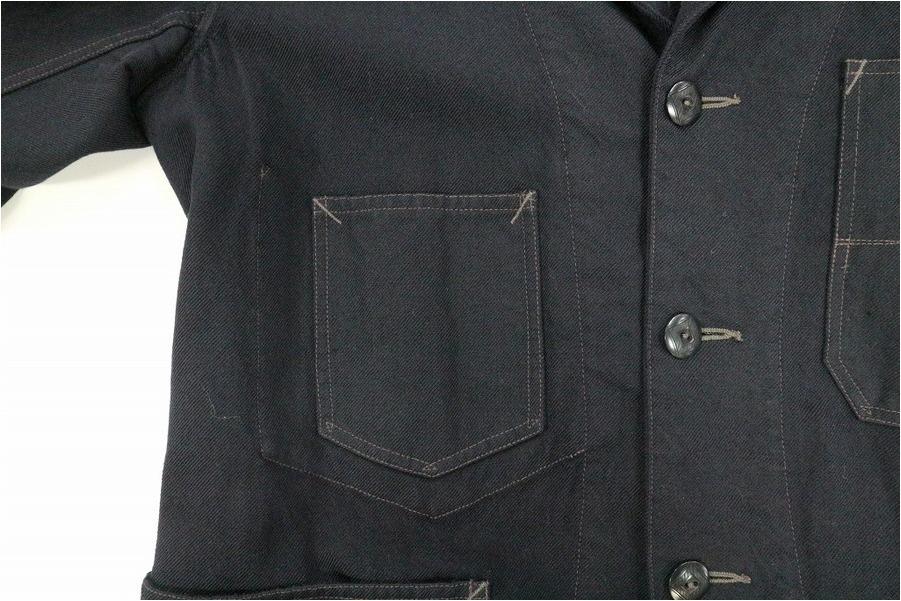 ダブルアールエルのブラックエンジニアードジャケット