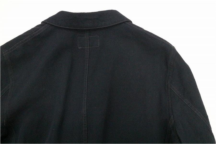 ブラックエンジニアードジャケットのアメカジ