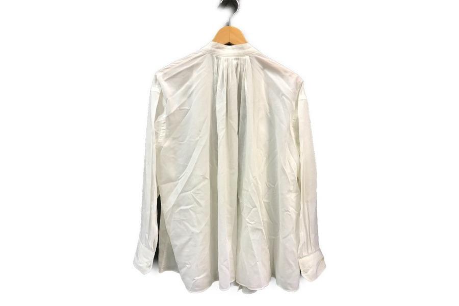 エルメスのギャザー前開きブラウスシャツ