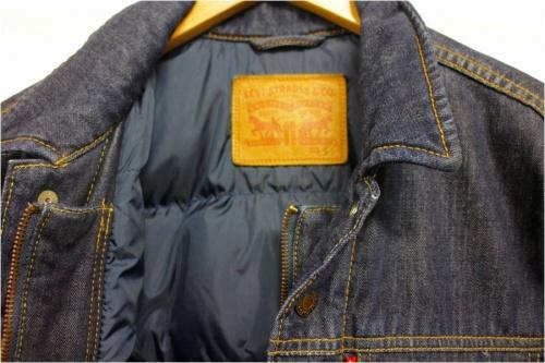 Levi'sのダウンデニムジャケット