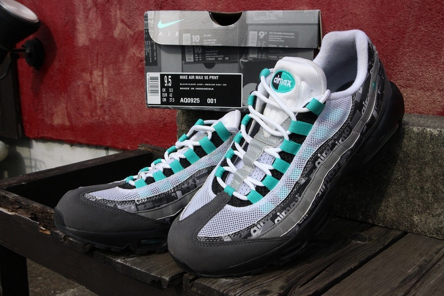 ​本日の買取速報【NIKE×ATMOS AIR MAX 95 PRNT WE LOVE PACK CLEAR JADE/27.5】