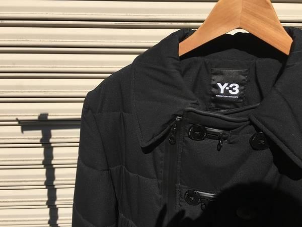 モードなオールブラックコート。Y-3/ワイスリー【古着買取トレファクスタイル高円寺2号店】