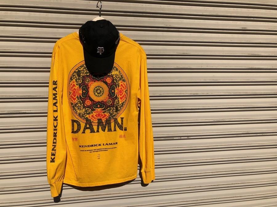 ケンドリック・ラマーのTDEロングスリーブTシャツ 、ツアーキャップ、怒涛の入荷!!
