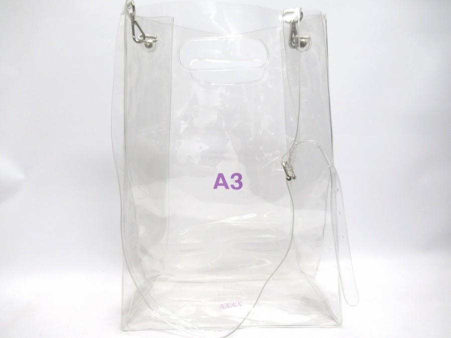 nana-nana PVC素材のA3プリントバッグが入荷しました!