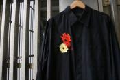 【syte yohji yamamoto/サイト ヨウジヤマモト】Broad Sunflower Gerbera Flower Embroidery Regular Collar Long Shirt