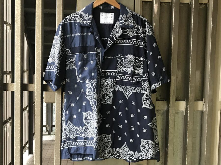 サカイのアシンメトリーバンダナシャツ