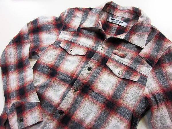 「ミスターオリーブのネルシャツ 」