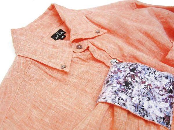 「リネンシャツのマーガレットハウエル 」