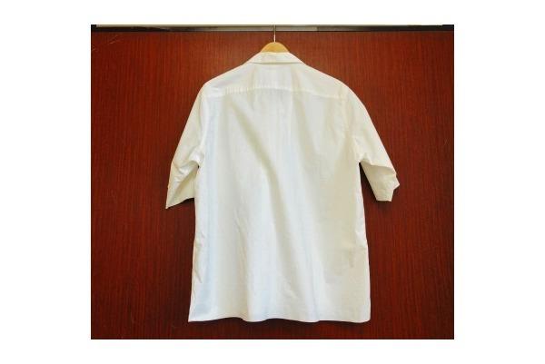 オーラリーのSELVEDGE WEATHER CLOTH OPEN COLLARED H/S SHIRTS