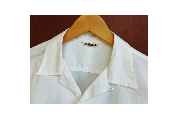 SELVEDGE WEATHER CLOTH OPEN COLLARED H/S SHIRTSのメンズ