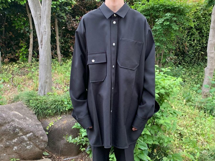 オーエーエムシーのオーバーサイズシャツジャケット