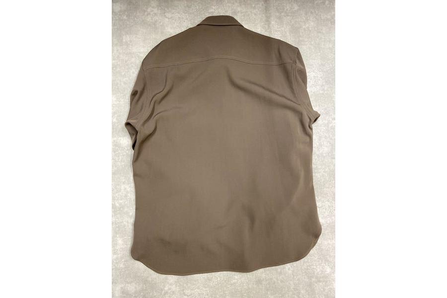 オーラリーのウールマックスギャバジンL/Sシャツ