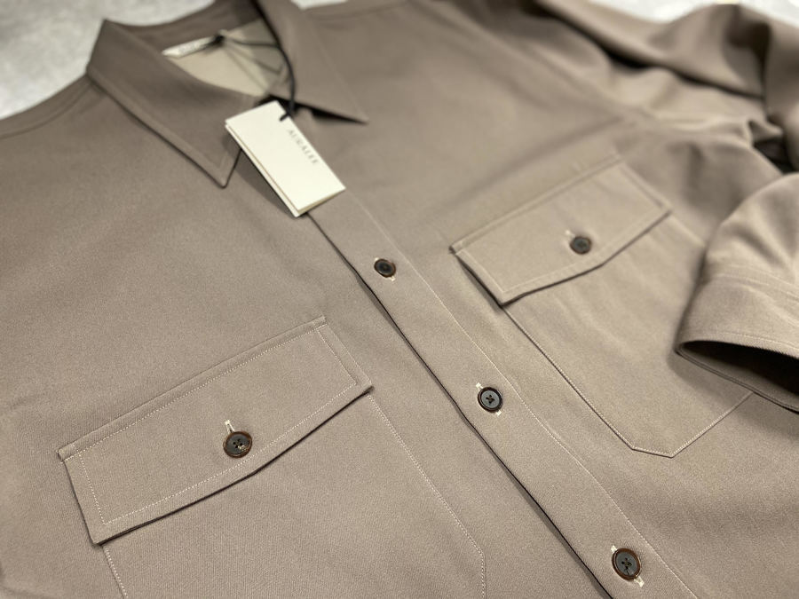 ウールマックスギャバジンL/Sシャツのドメスティックブランド