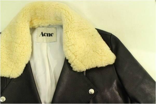 ACNE/アクネからこの時期ピッタリのムートン付ゴートレザーライダースジャケット入荷。【古着買取トレファクスタイル川越店】