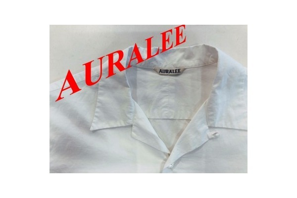 AURALEE (オーラリー)のSELVEDGE WEATHER CLOTH OPEN COLLARED H/S SHIRTSが入荷しました