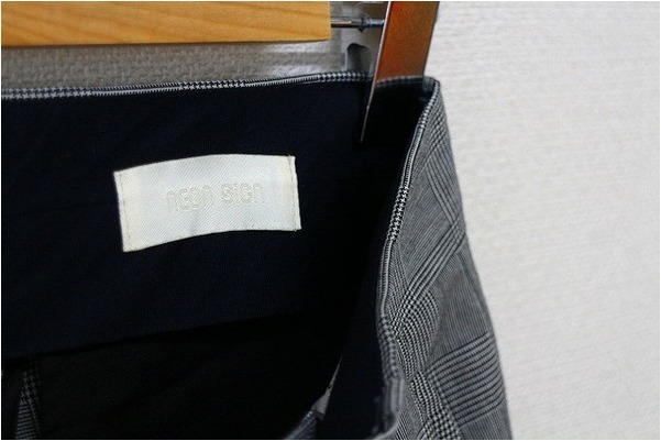 【O代官山取扱】・【NEON SIGN/ネオンサイン】が熱い!!グレンチェックスラックスパンツの入荷です。