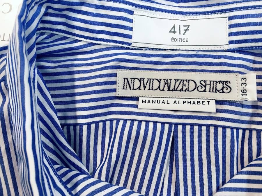 「インディビジュアライズド シャツのマニュアルアルファベットシャツ 」