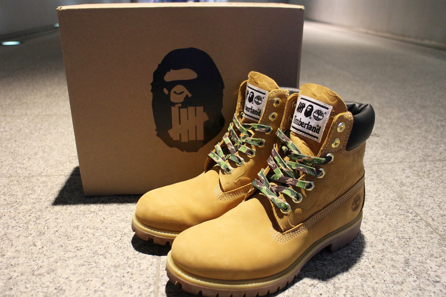 「コラボ・別注アイテムのUNDEFEATED × A BATHING APE×Timberland 」