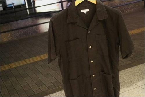 橋本のオープンカラーシャツ