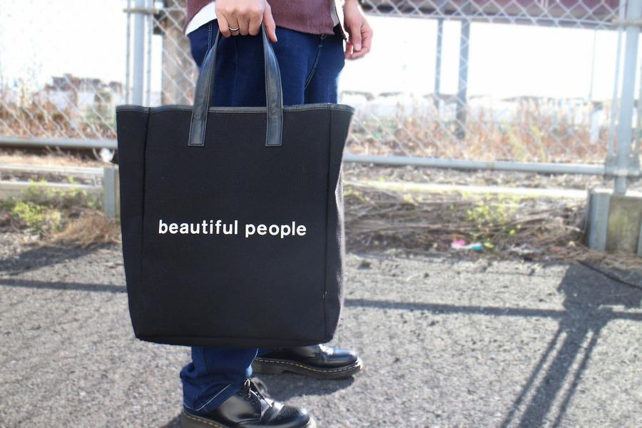 ビューティフル ピープルのシェイプメモリートートバッグ