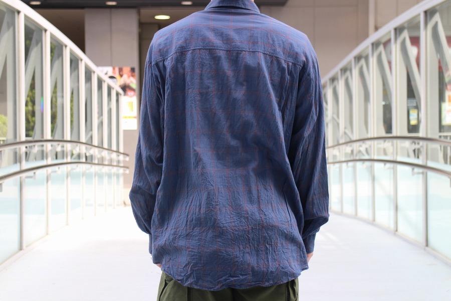 オーラリーのスーパーライトチェックビッグシャツ
