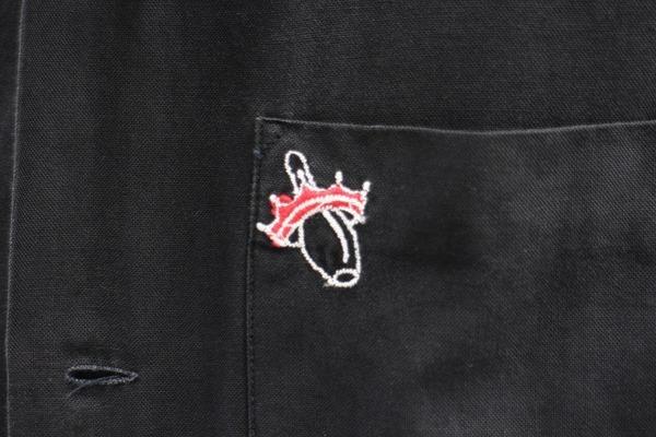 ヴィンテージボーリングシャツのブラック