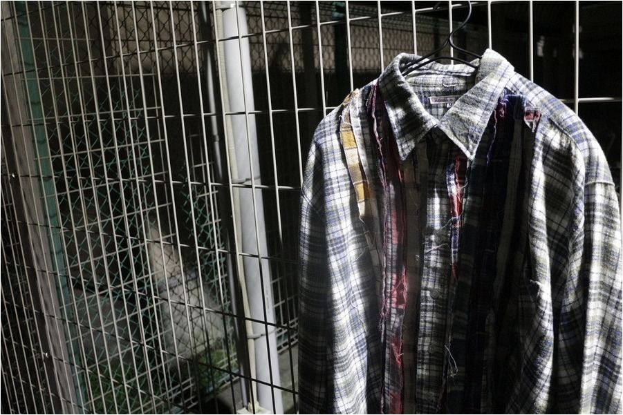 【Rebuild by Needles/リビルドバイニードルズ】Ribbon Flannel Shirt (F)入荷