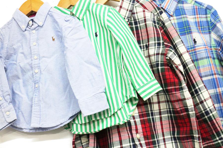 【インポートブランド POLO RALPH LAUREN(ポロラルフローレン) 】キッズサイズシャツ 大量買取入荷
