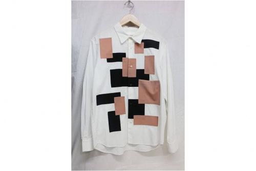 エトセンスのパッチワークシャツ