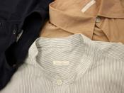 COMOLI/コモリより、コモリシャツ、バンドカラーシャツが3点入荷致しました!