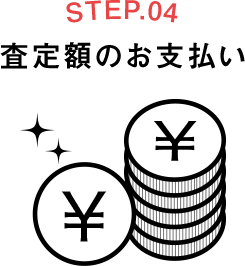 STEP.04 査定額のお支払い