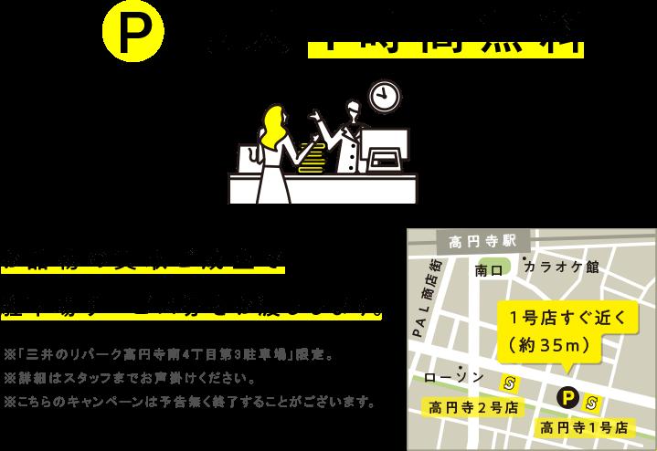 お品物の買取ご成立で駐車場サービス券をお渡しします。