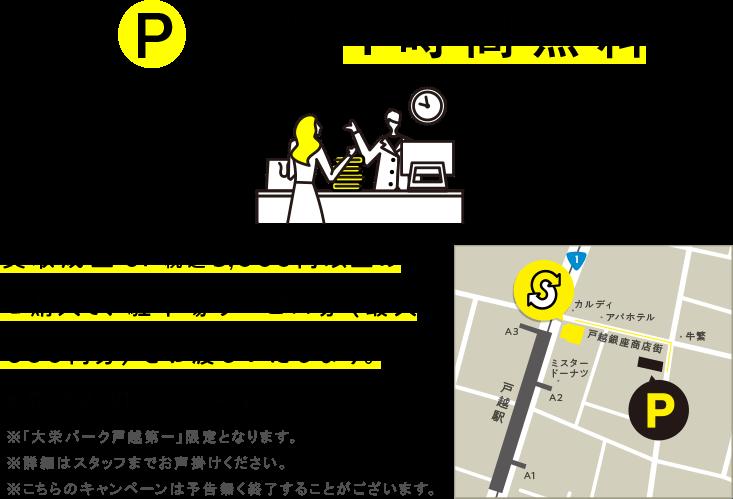 買取成立 or 税込み5,000円以上のご購入で駐車場サービス券(最大600円分)をお渡しいたします。