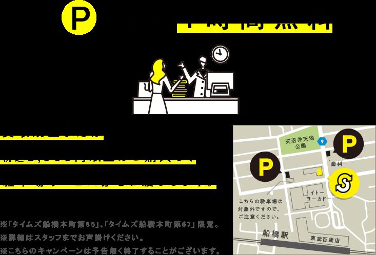 買取成立 または税込み5,000円以上のご購入で駐車場サービス券をお渡しします。
