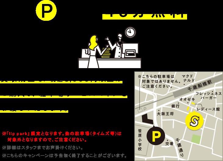 買取成立 or 税込み5,000円以上のご購入で駐車場サービスコインをお渡しいたします。